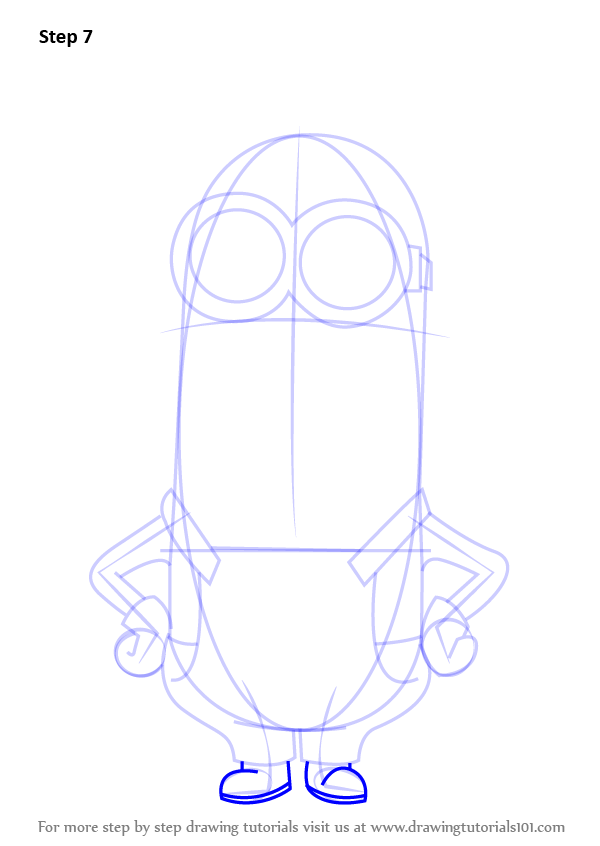600x846 Learn How To Draw Kevin From Minions (Minions) Step By Step