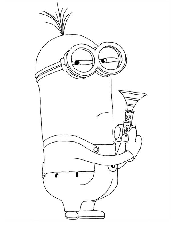 600x840 Despicable Me Character Kevin The Minion Coloring Page