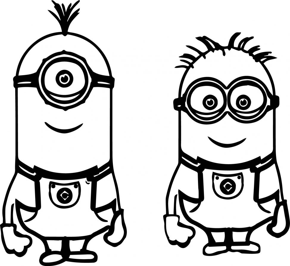 974x895 Minions Coloring Pages Online Tags How To