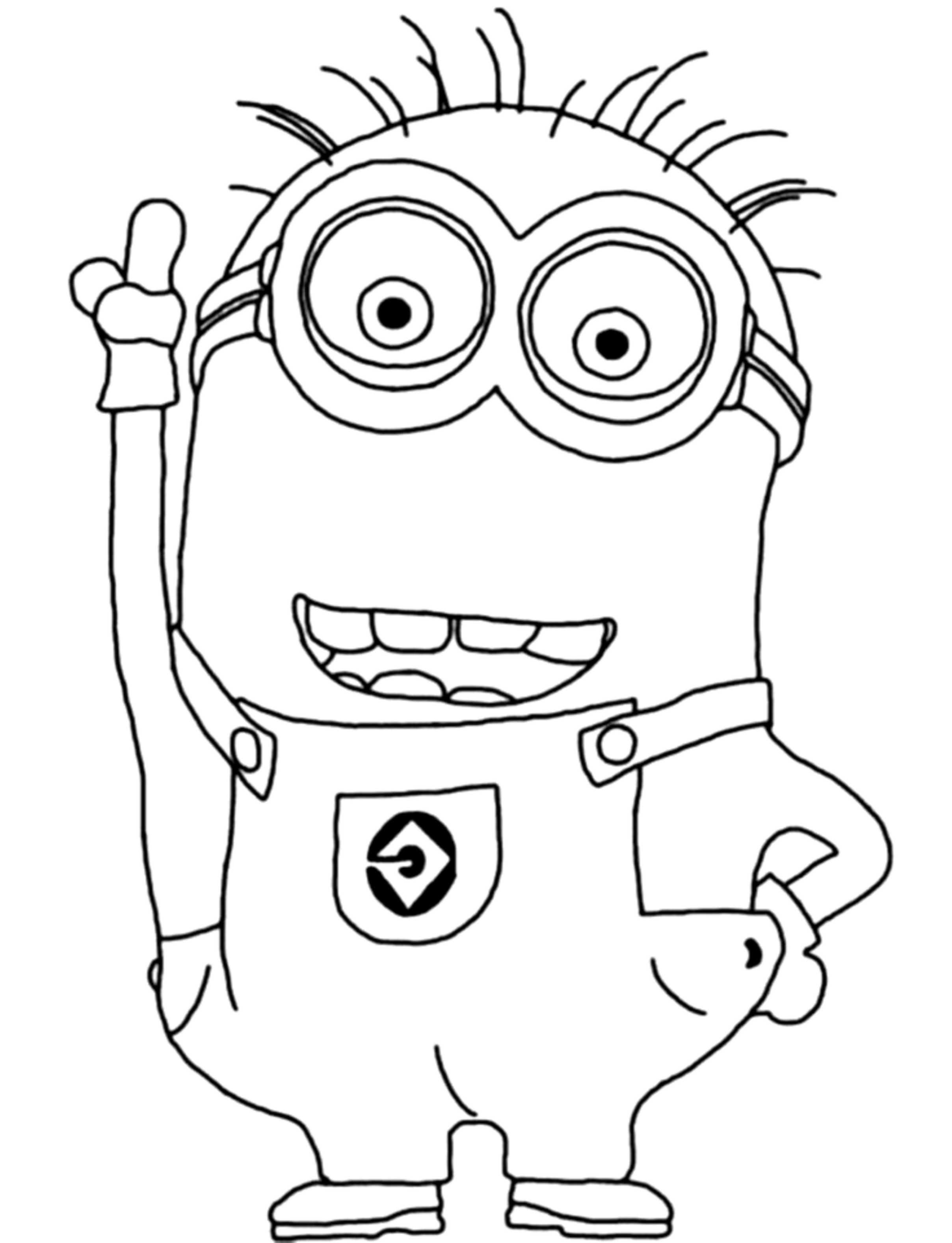 2416x3154 Despicable Me Coloring Pages Minions Kevin Kids Colouring Pages