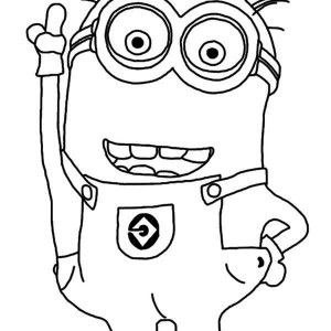 300x300 Minions Coloring Pages For Kids Click The Minion Kevin