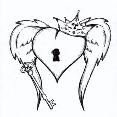 236x236 Key And Lock Drawings This Is Just A Sketch For A Simple Tattoo