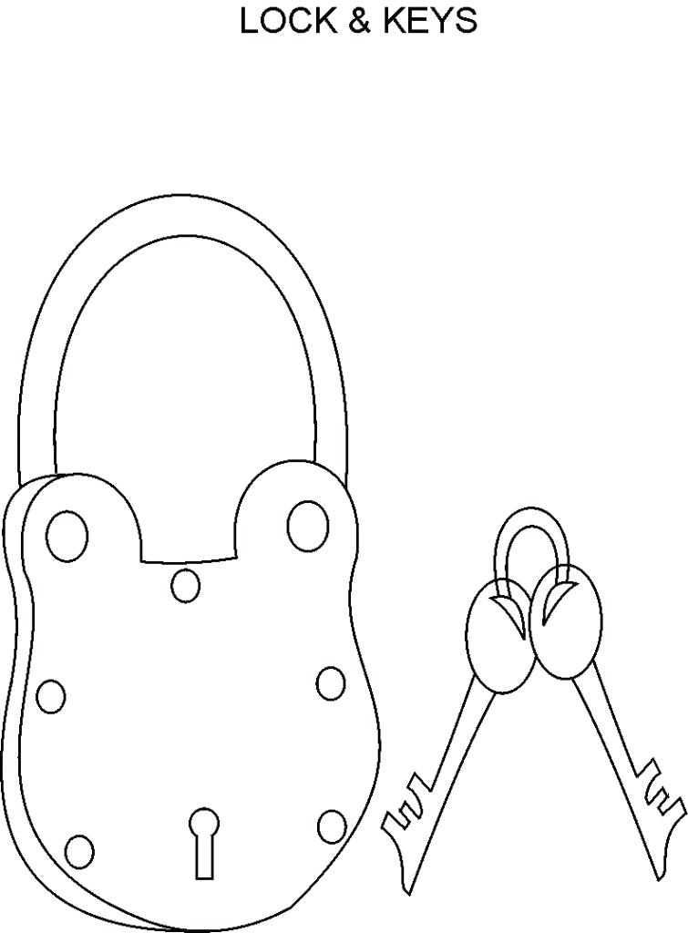 755x1024 Key Coloring Pages Key Coloring Page Door Black And White New