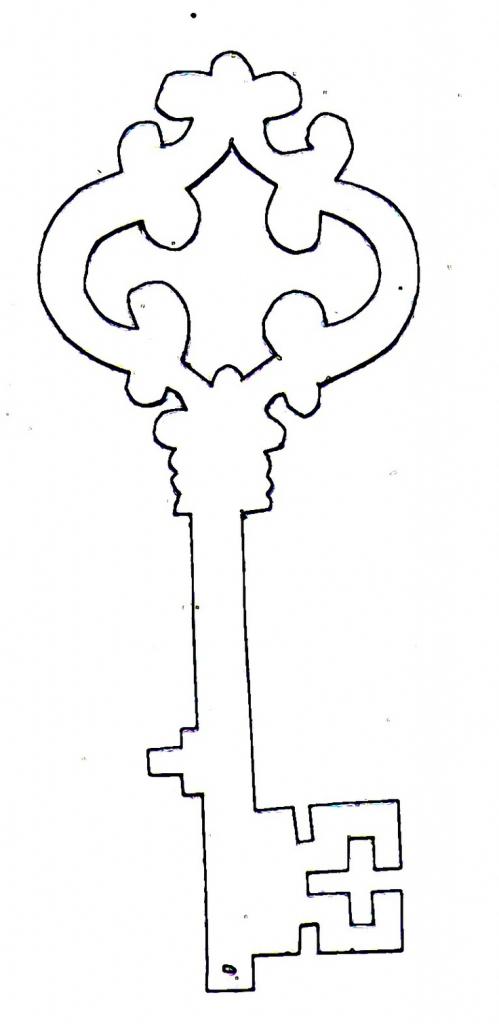 499x1024 Skeleton Key Drawing