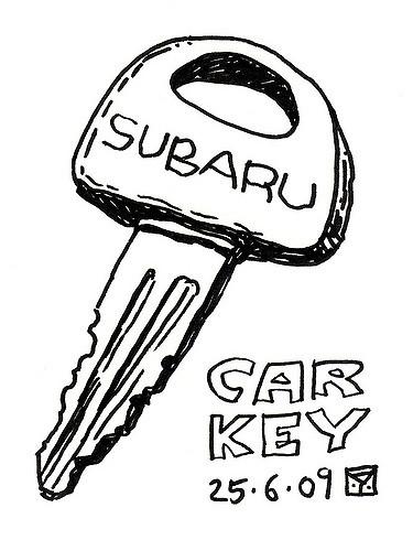 375x500 Car Key The Key To My 1988 Subaru Justy. Yariv Altman