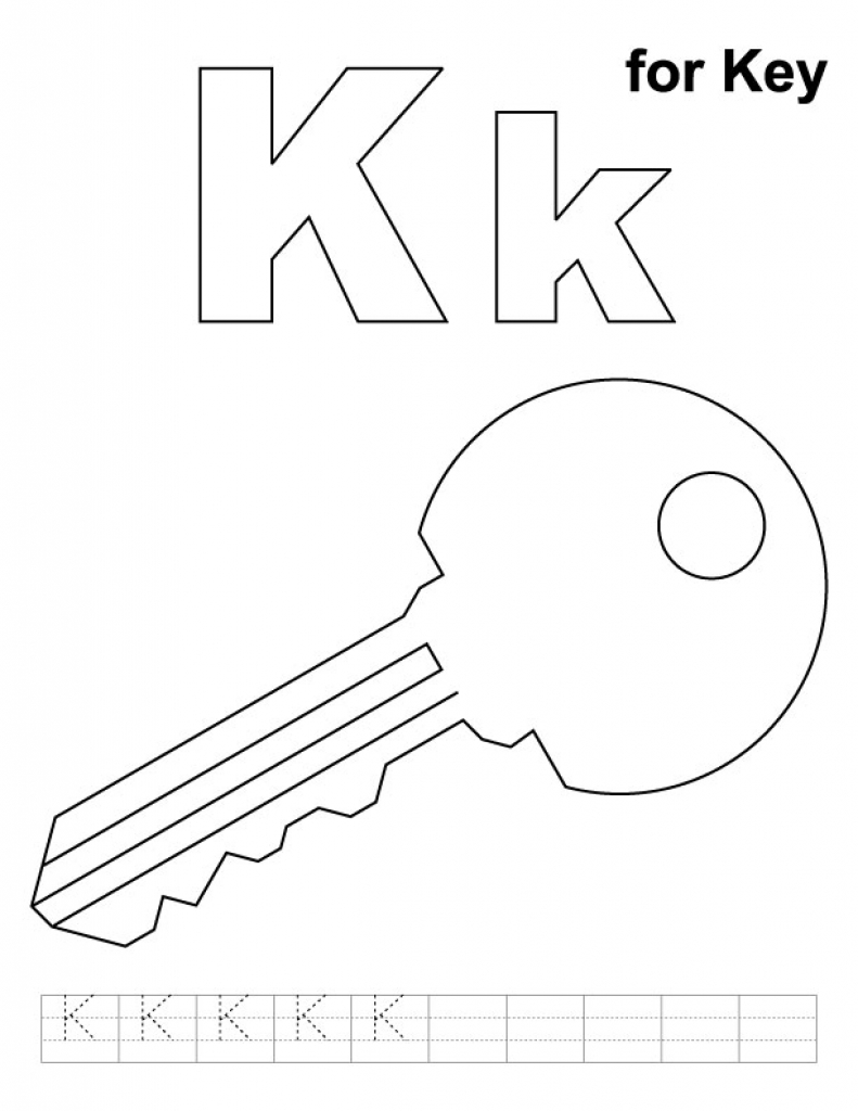 791x1024 Key Coloring Page Printable Key Coloring Page Big In Download