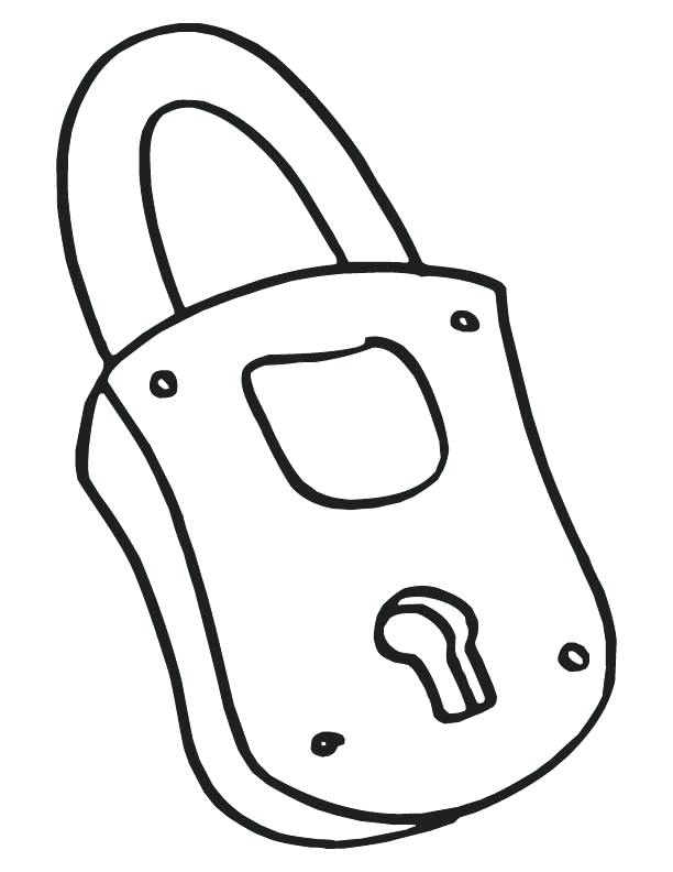 612x792 Key Coloring Page Together With Lock Coloring Page Key Outline
