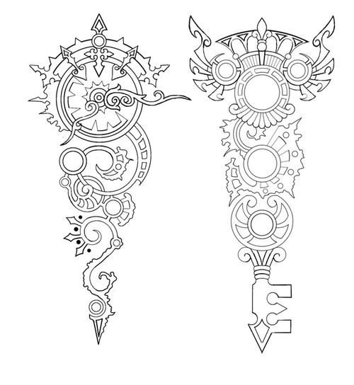 500x544 Clock Gears Drawing Steampunk Gear Drawing Drawing, Gears, Key
