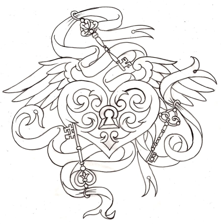 900x912 Heart Tattoos And Designs Page 167