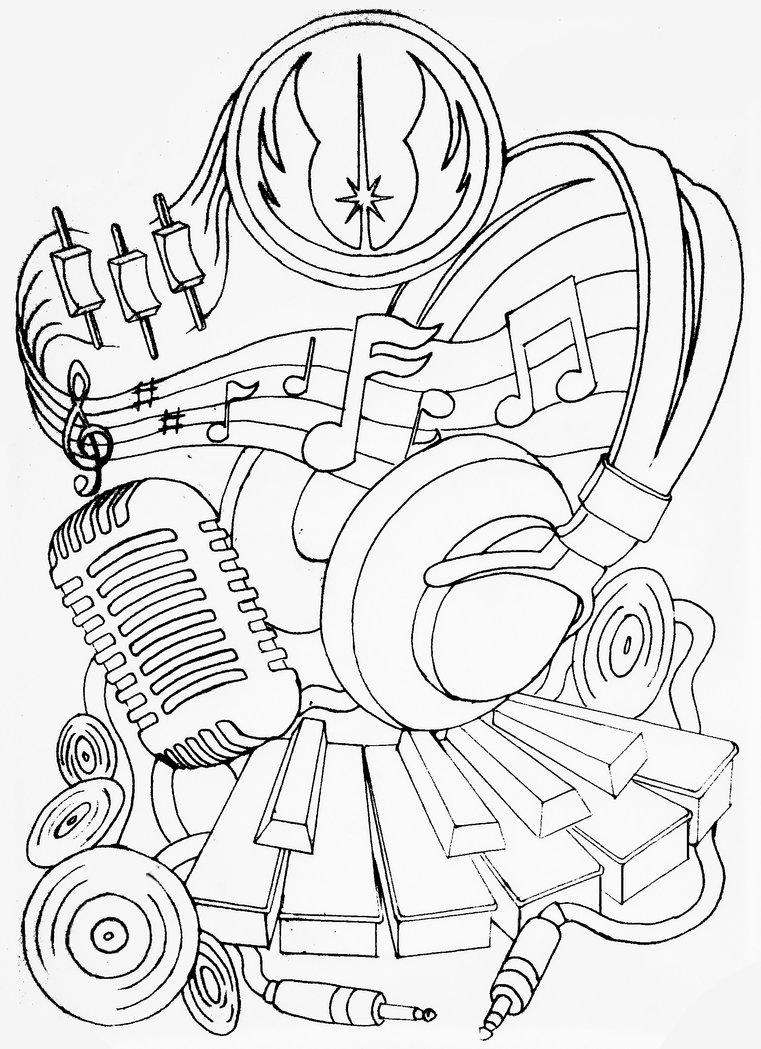761x1049 Piano Keys With Headphones And Mic Tattoo Design
