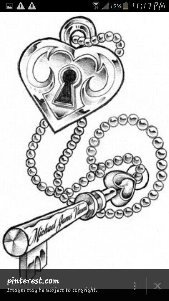 540x960 60 Key Chain Tattoos, Key Tattoos And Designs Page 14