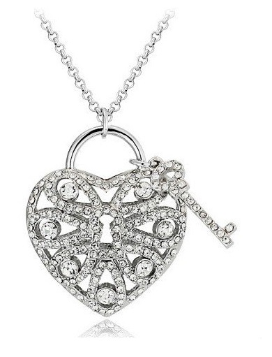 390x511 18ct Gold Plated Key To My Heart Necklace