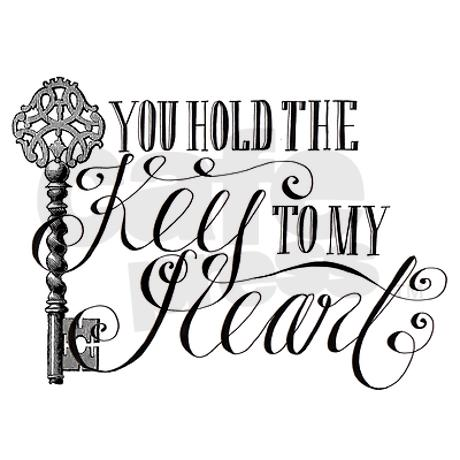 460x460 You Hold The Key To My Heart Greeting Card Key And Journaling