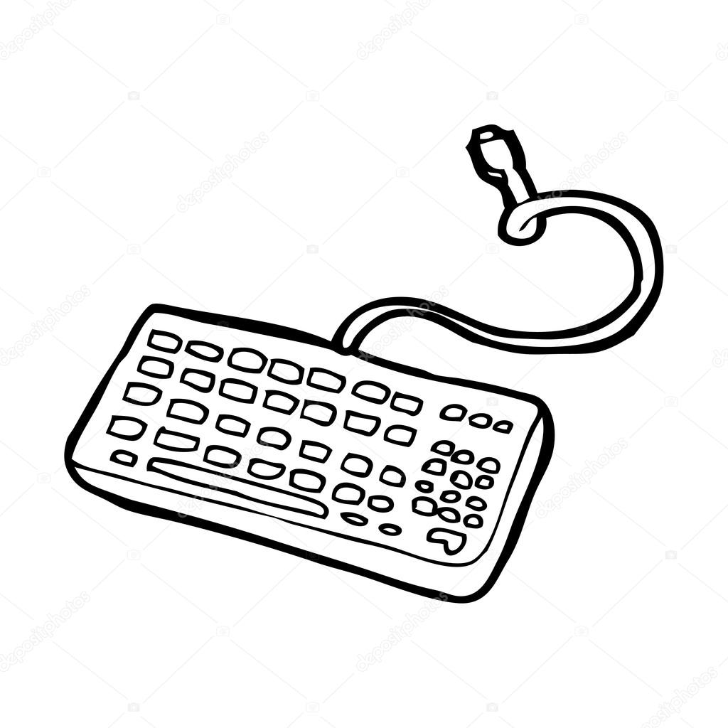 1024x1024 Computer Keyboard Stock Vector Lineartestpilot