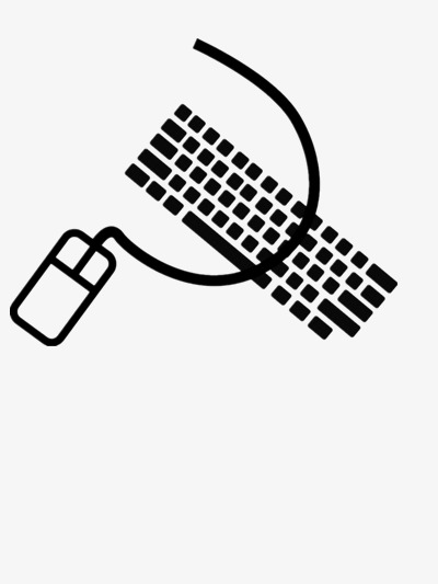 400x533 Hand Painted Keyboard And Mouse Vector, Black, Mouse, Keyboard Png
