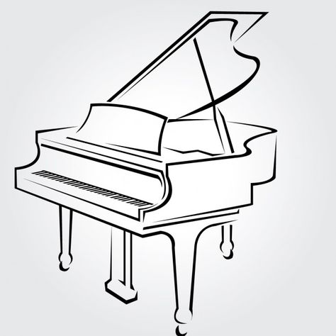474x474 How To Draw A Grand Piano Step By Step Drawing Tutorials