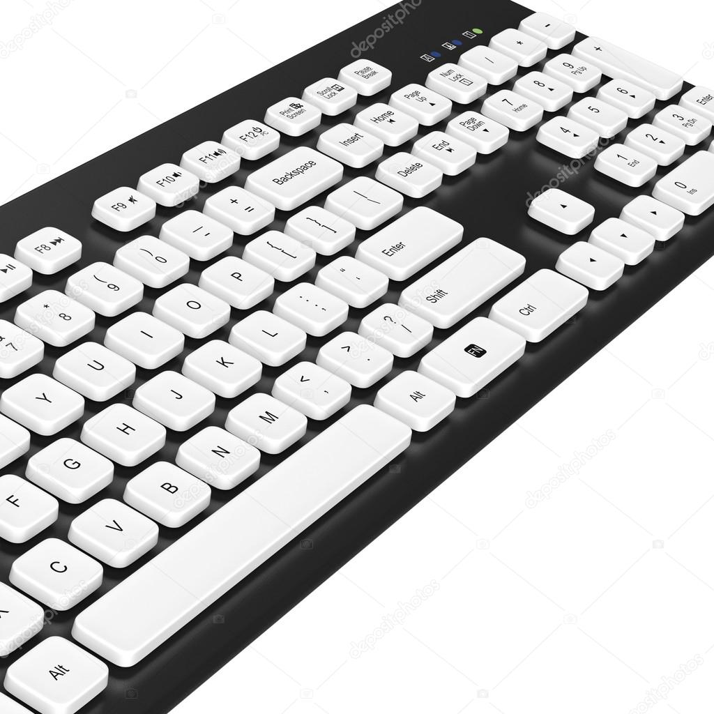 1024x1024 Keyboard, Buttons, Letters, Numbers. 3d Graphic Stock Photo