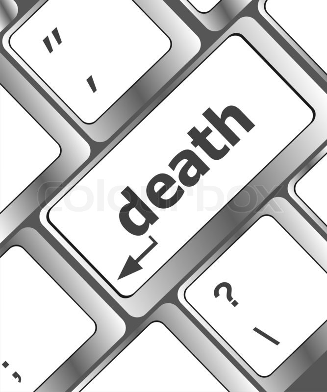 667x800 Keyboard With Death Word Button Stock Photo Colourbox