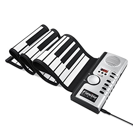 425x425 New Upgraded Alwoa Roll Up Keyboard Piano, 4 Modes 61
