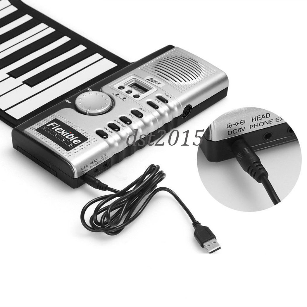 1050x1050 Flexible 61 Keys Soft Electric Digital Roll Up Keyboard Piano