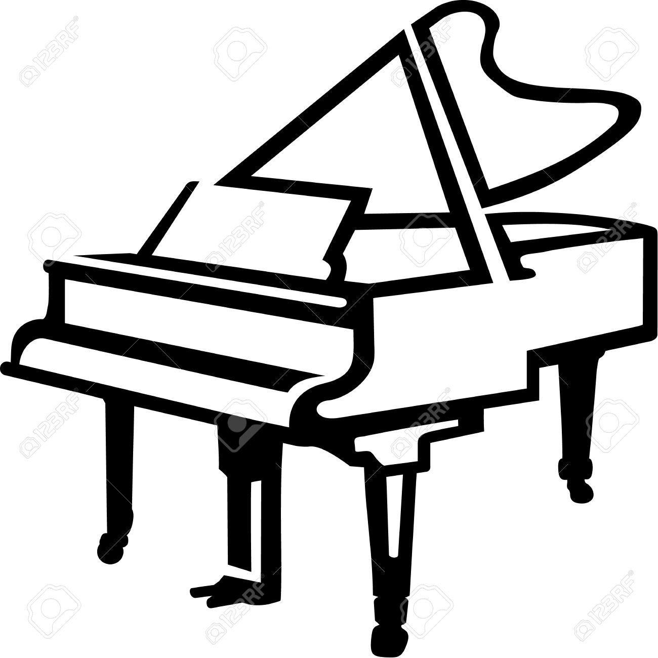 1300x1300 Grand Piano Sketch Style Royalty Free Cliparts, Vectors, And Stock