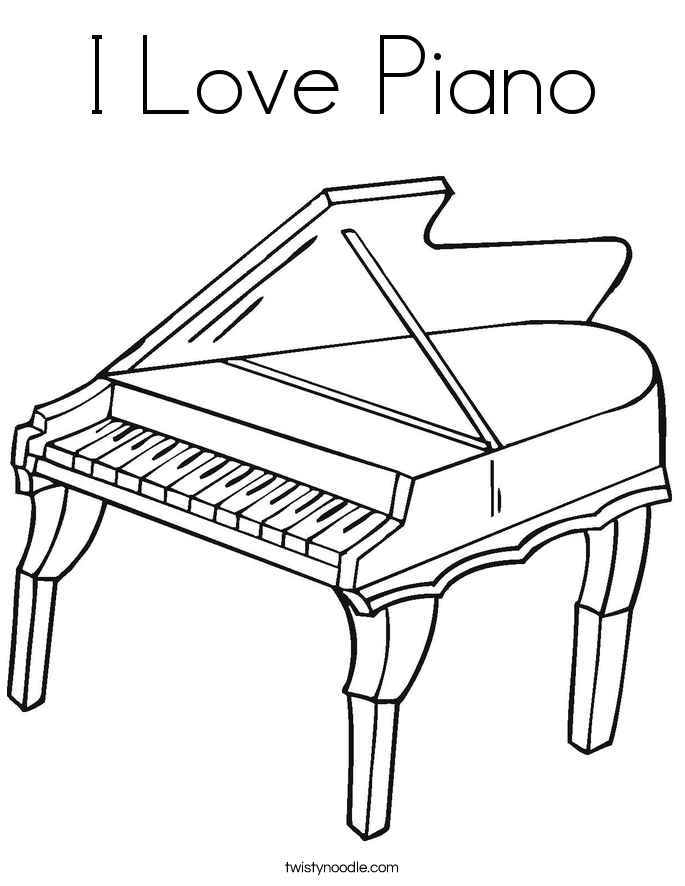 685x886 Piano Coloring Pages Free Piano Keys