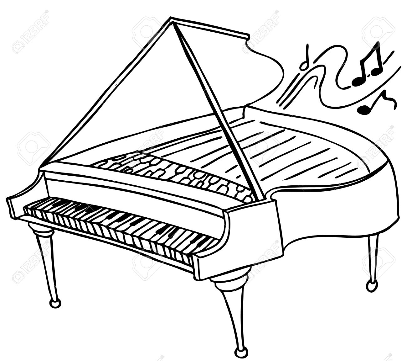 1300x1151 Piano Royalty Free Cliparts, Vectors, And Stock Illustration