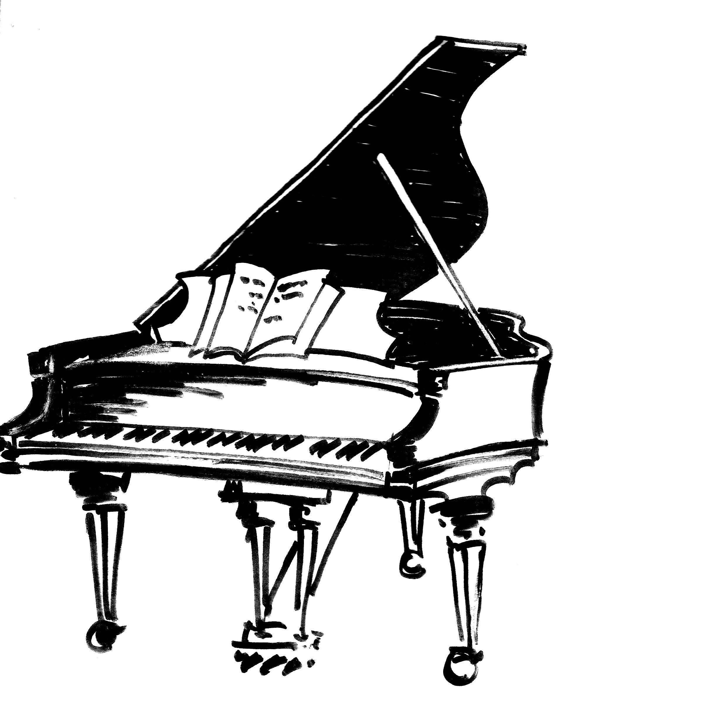 keyboard piano drawing at getdrawings com