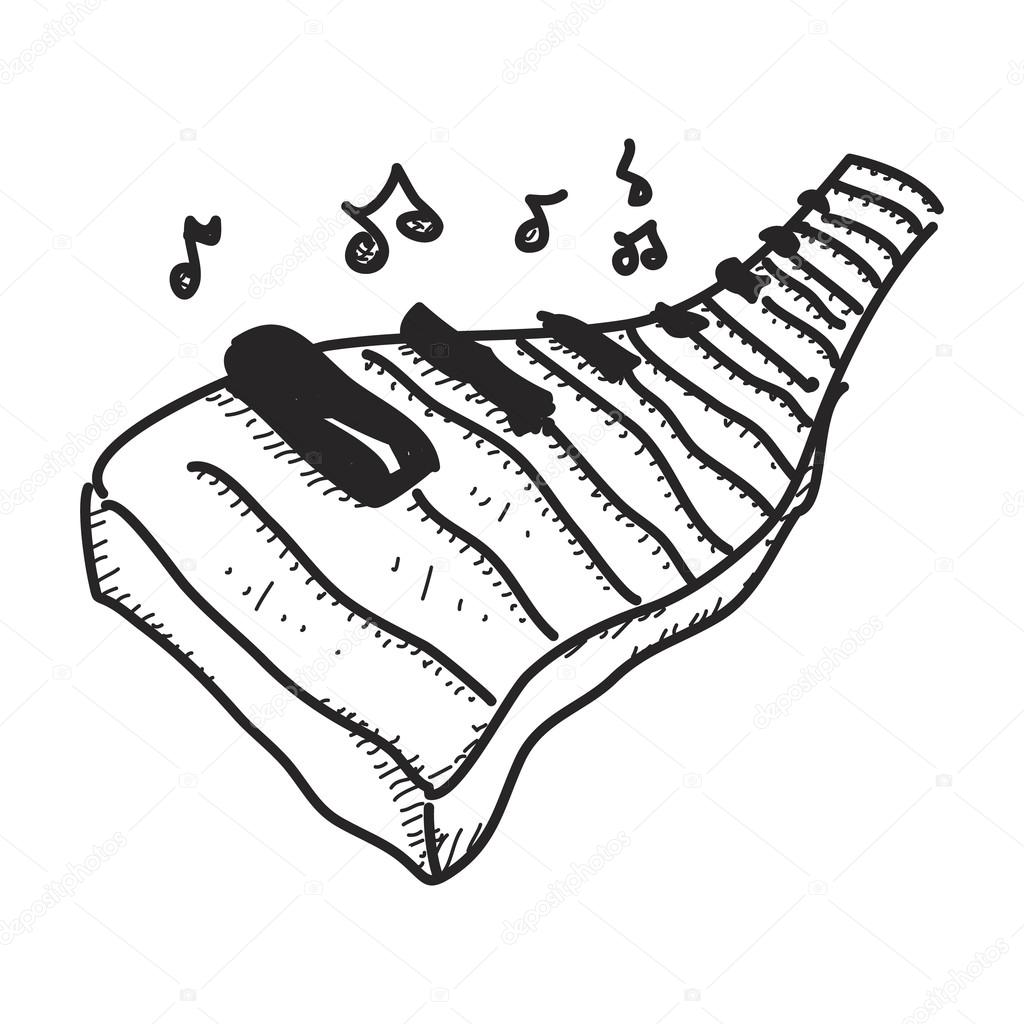 1024x1024 Simple Doodle Of A Piano Keyboard Stock Vector Chrishall