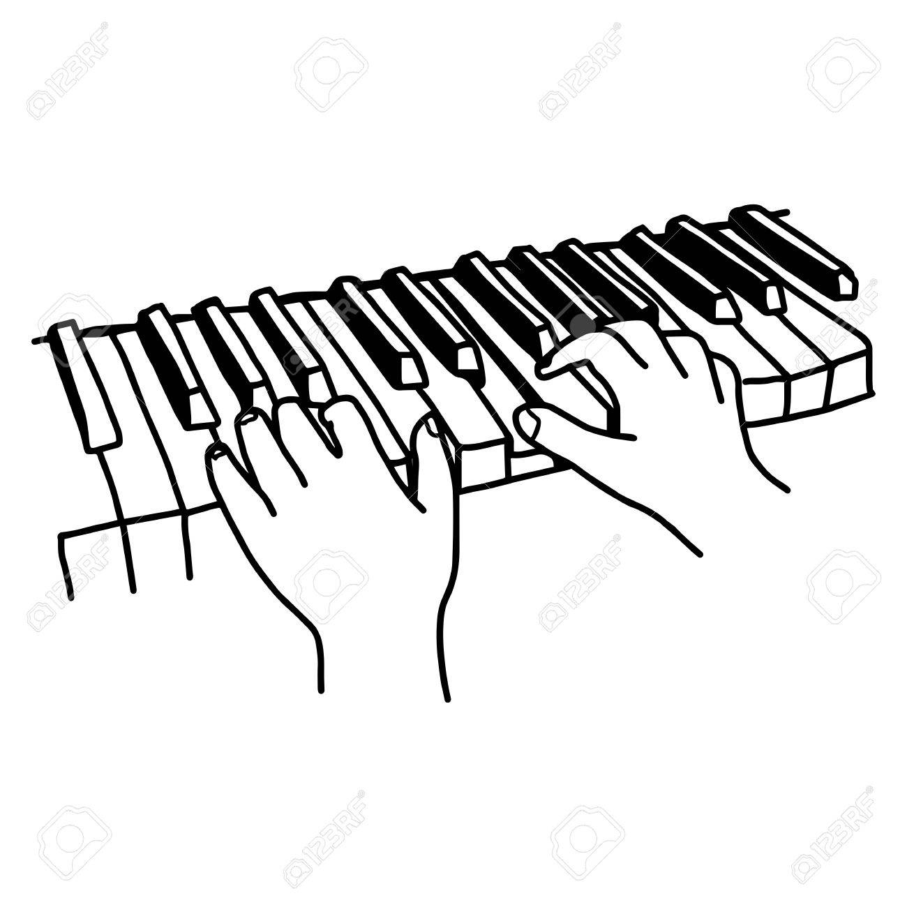 1300x1300 209 Hands Playing Piano Stock Illustrations, Cliparts And Royalty