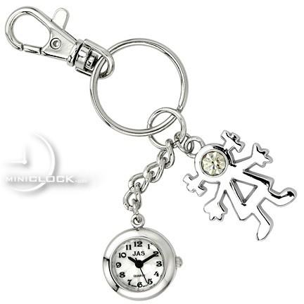 432x432 Chain, Novelty Mini Clock Little Stick Figure Girl