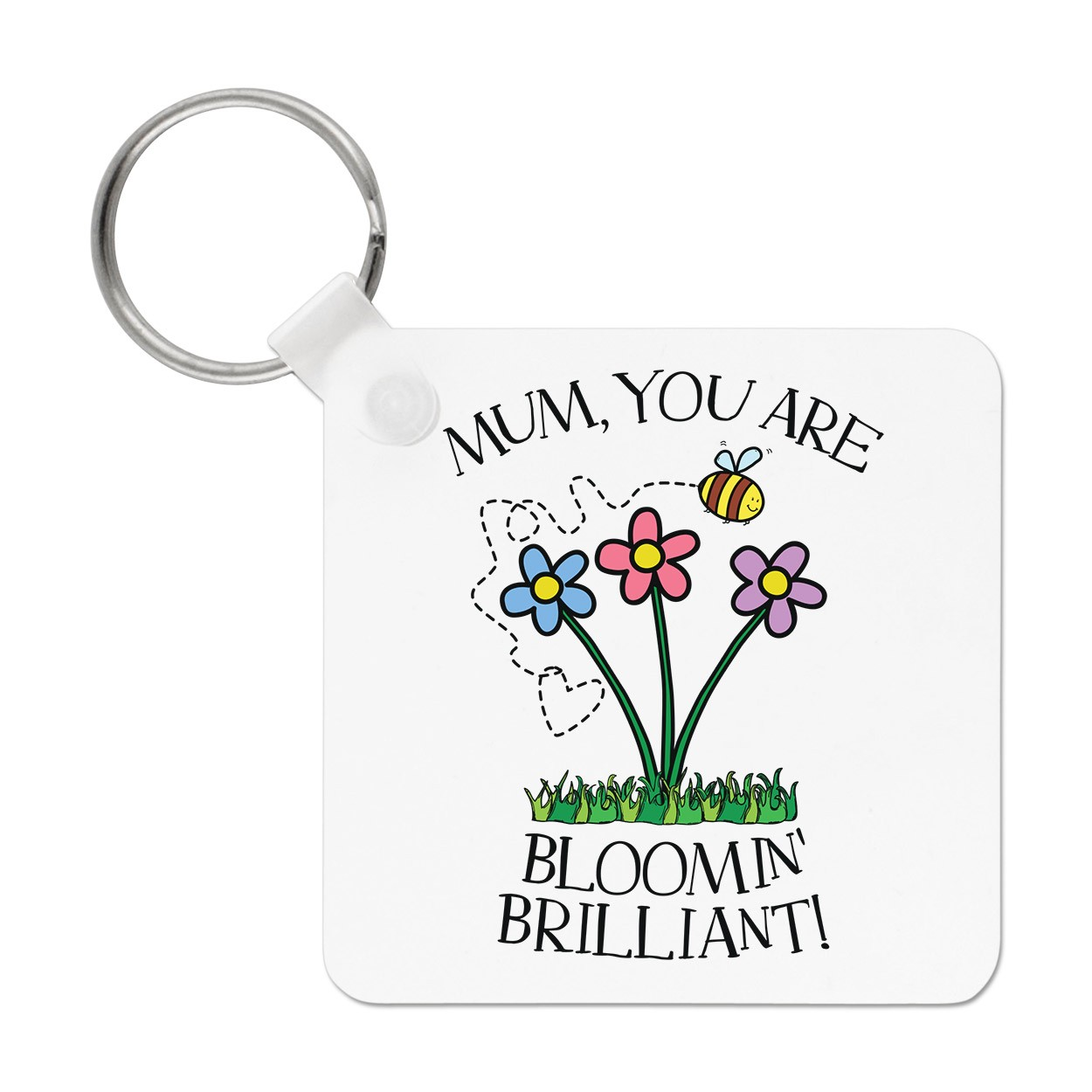 1250x1250 Mum You Are Bloomin Brilliant Keyring Key Chain