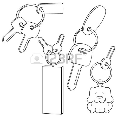 450x450 Vector Set Of Key Chain Royalty Free Cliparts, Vectors, And Stock