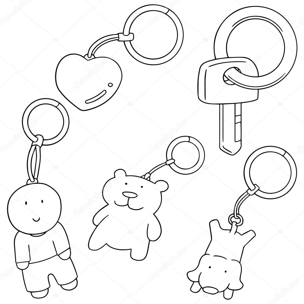 1024x1024 Vector Set Of Keychain Stock Vector Ourlifelooklikeballoon