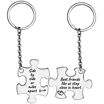 350x350 Best Friends Keychain Not Sisters By Blood But