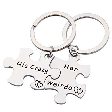 395x395 Ensianth Couple Keychain His Crazy Her Weirdo Keychain