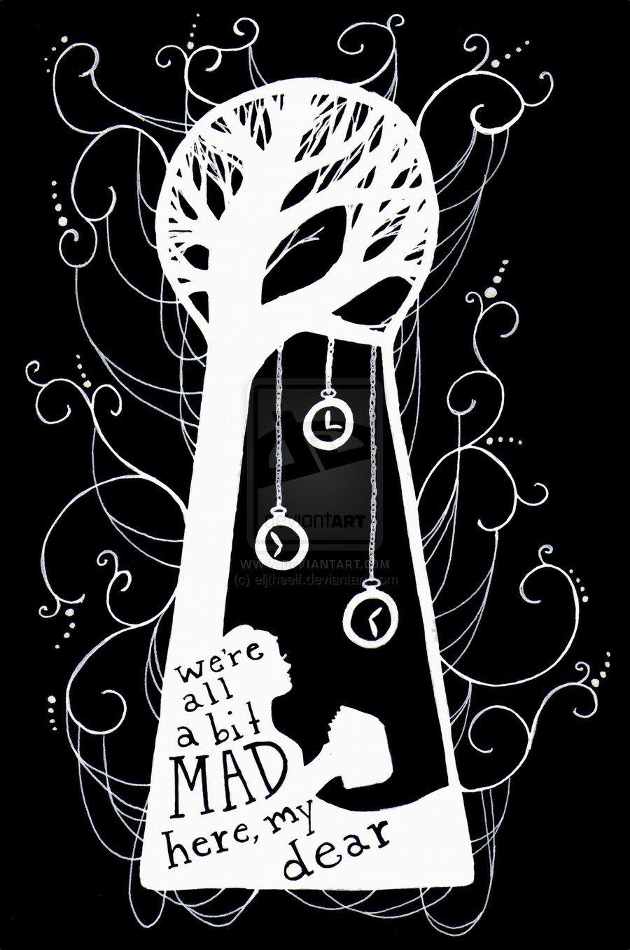 900x1357 Keyhole Alice In Wonderland Drawing