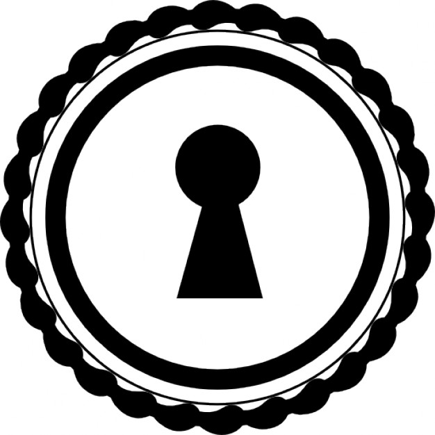 626x626 Keyhole In A Circular Shape Icons Free Download