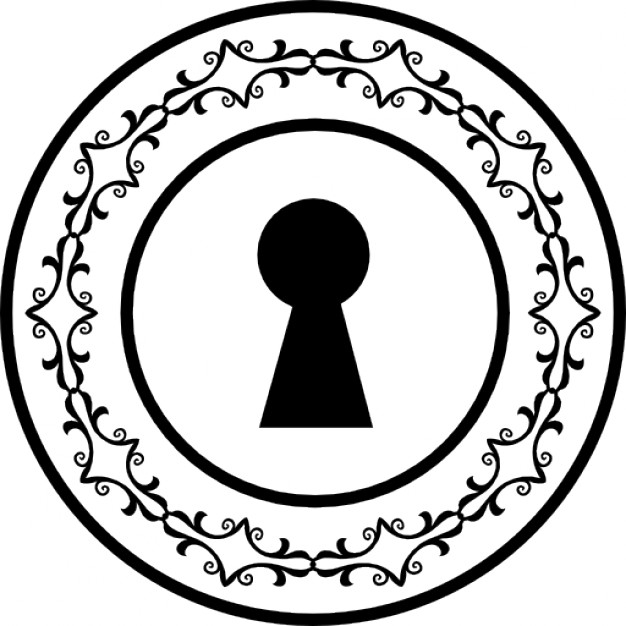 626x626 Keyhole Shape In A Decorative Circular Ring Icons Free Download