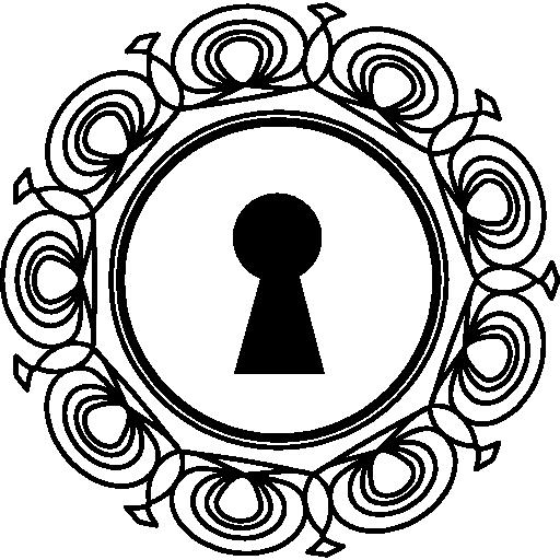 512x512 Keyhole Tool With Ornamental Circle Around