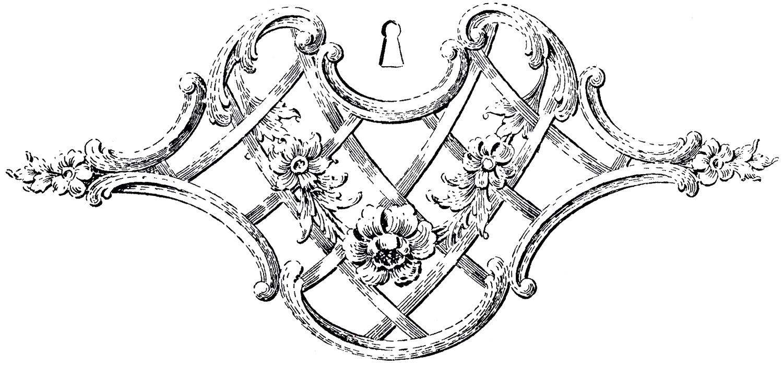 1500x704 Fancy Keyhole Ornament!