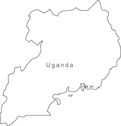 421x441 Digital Uganda Map For Adobe Illustrator And Powerpointkeynote