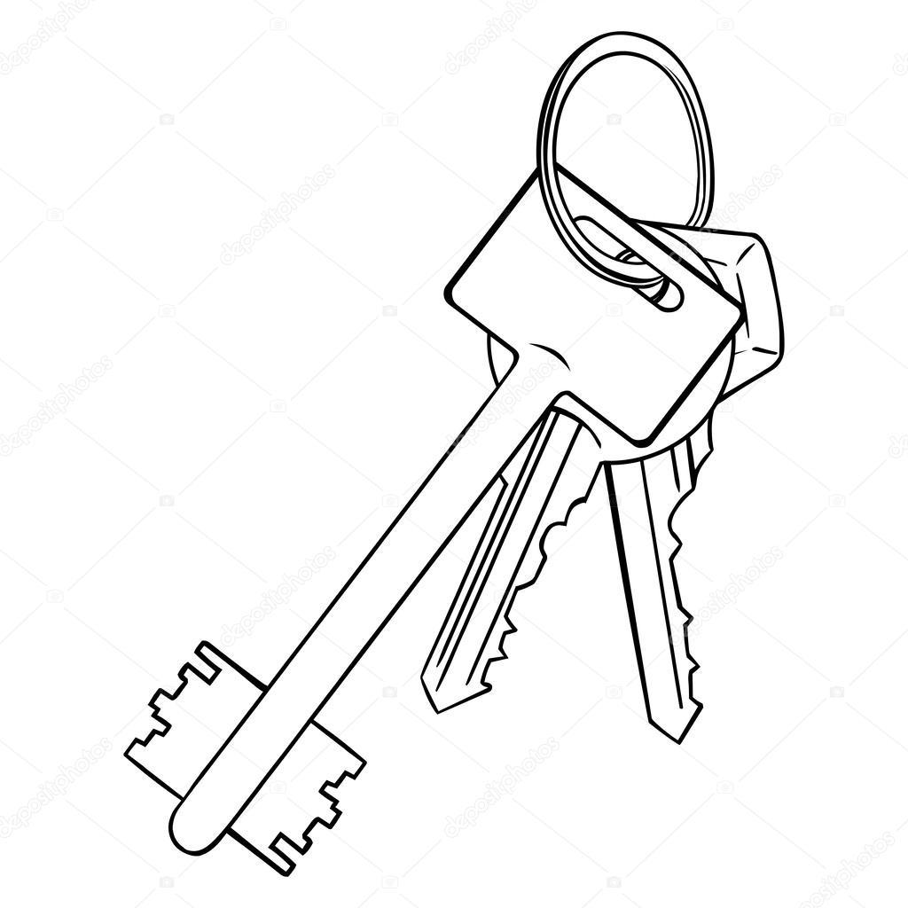 1024x1024 Modern Keys Stock Vector Nikiteev