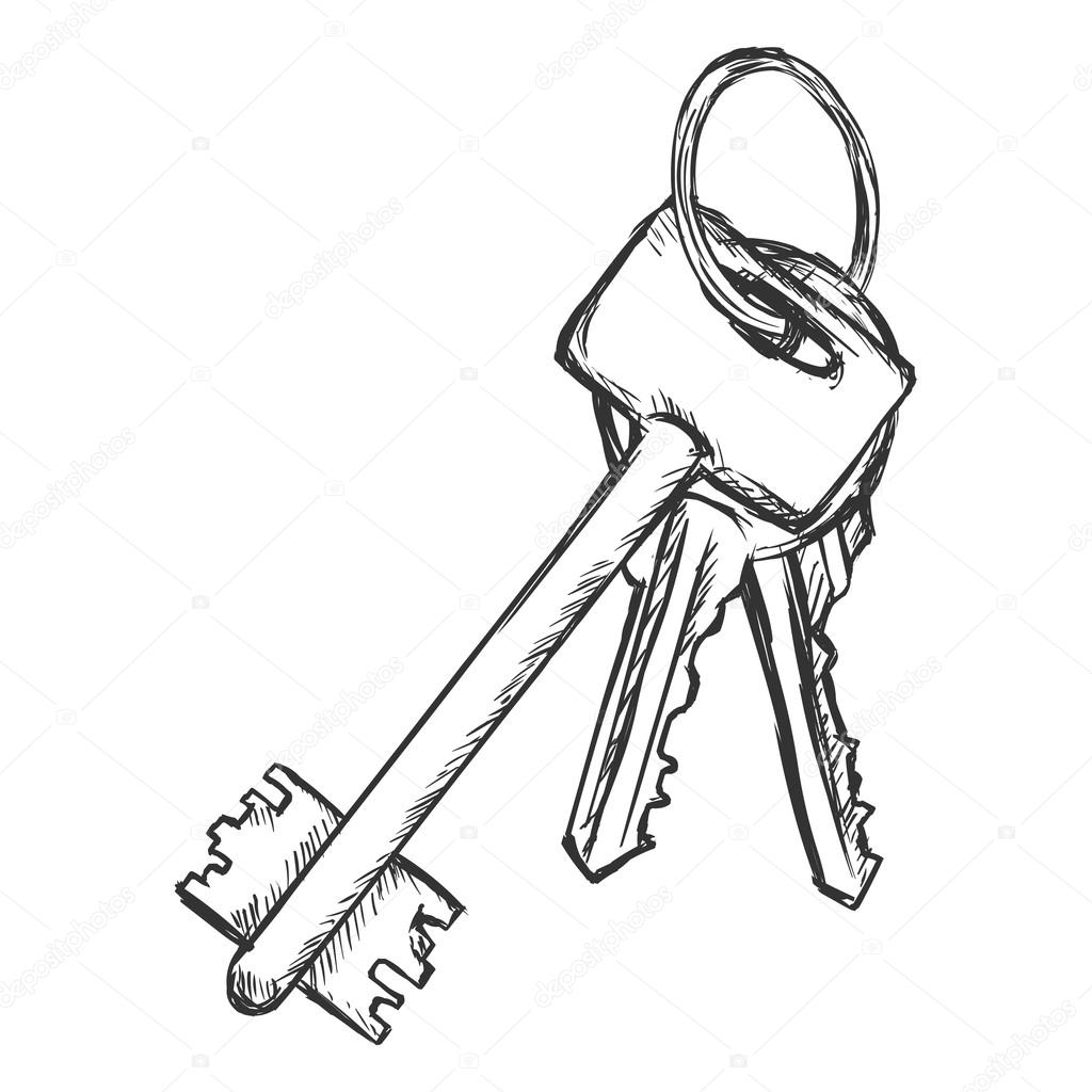 1024x1024 Bunch Of Modern Keys Stock Vector Nikiteev