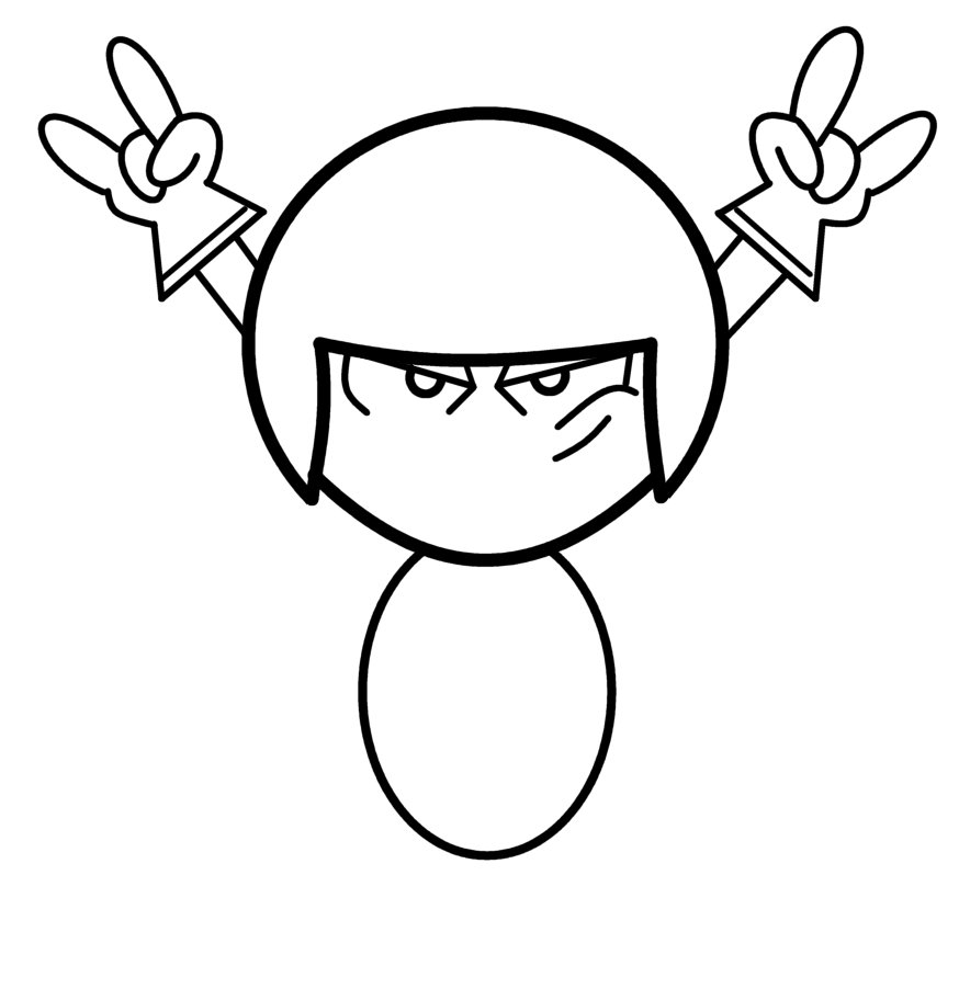 874x902 How To Draw Cartoons Kick Buttowski