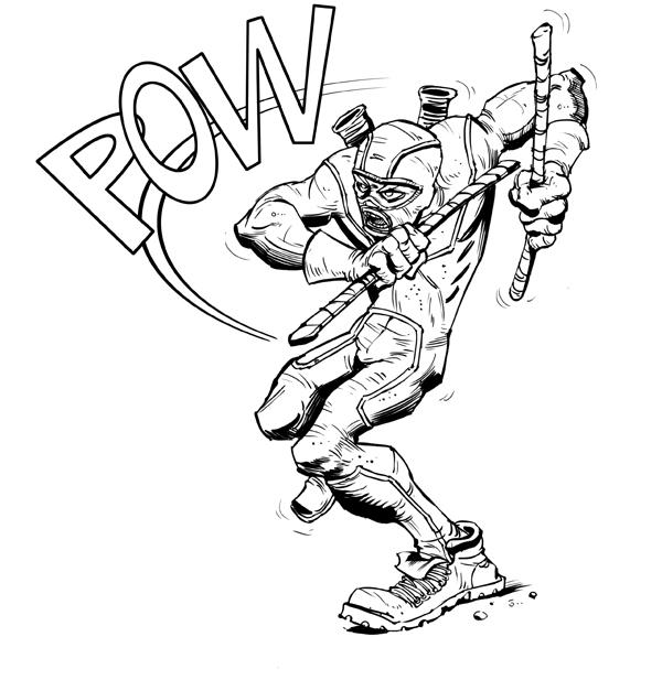 600x617 Carlos Illustration Kick Ass!