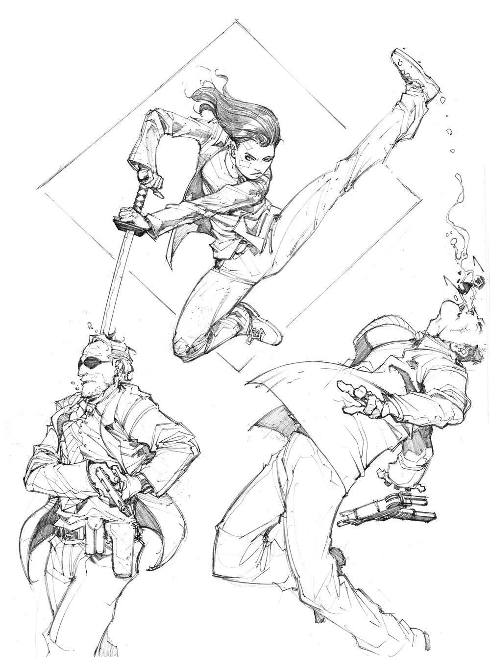 1000x1340 Jump Kick By Max Dunbar Coloring Comics Amp Superheroes