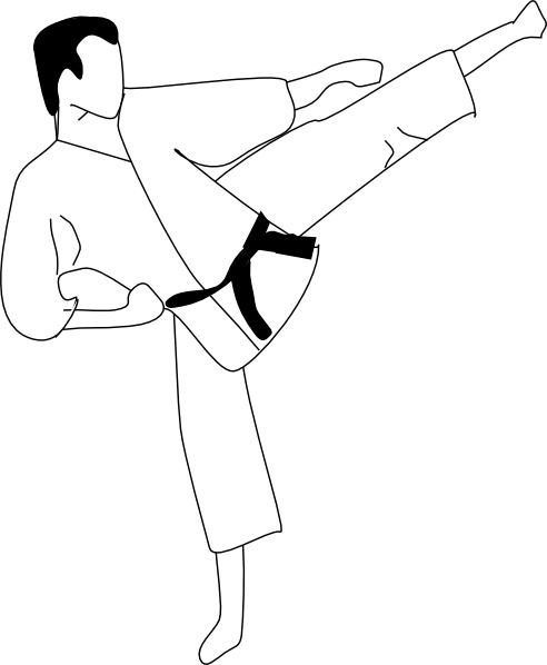 492x598 Karate Kick Clip Art Free Vector In Open Office Drawing Svg ( Svg