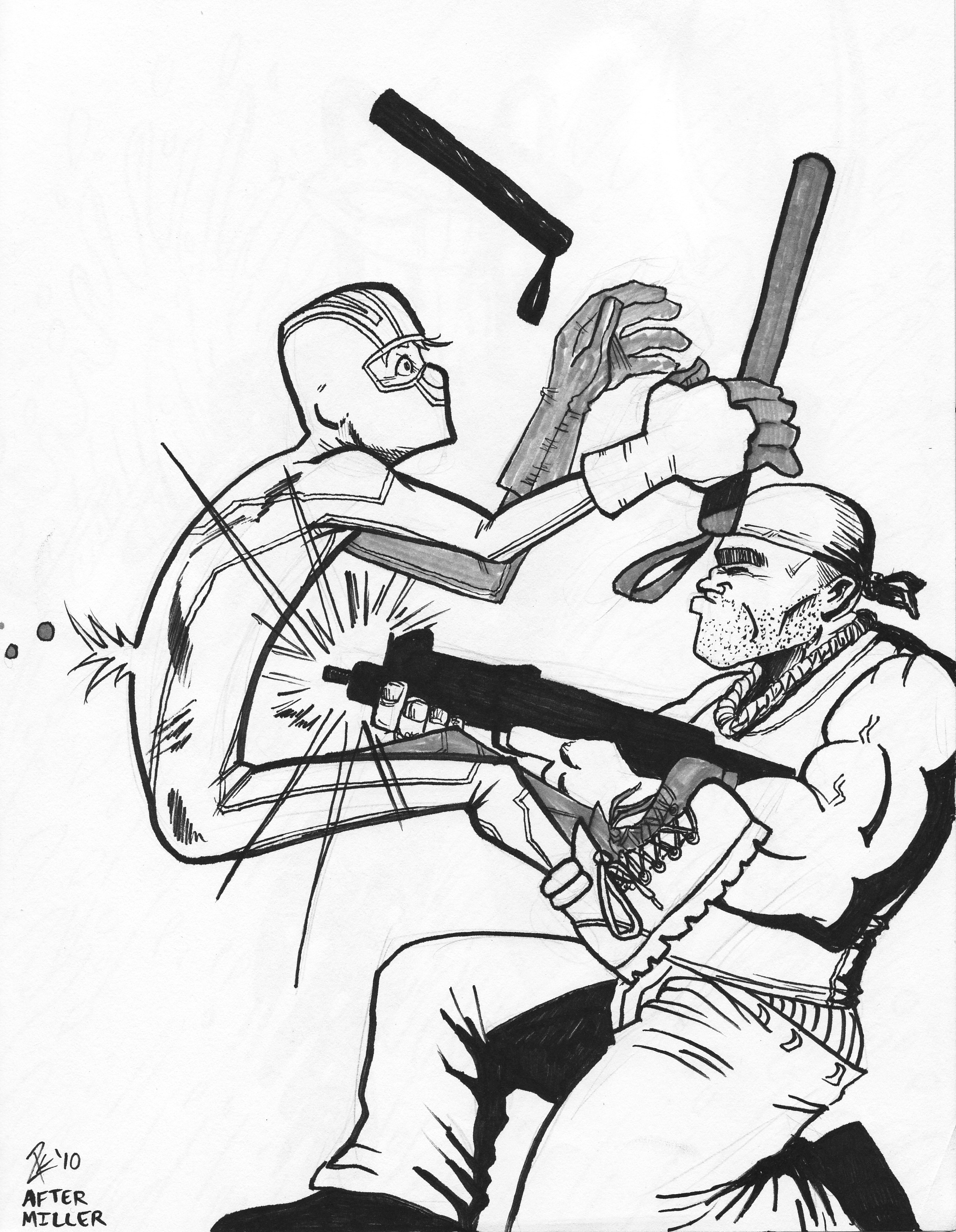2548x3285 Kick Ass Homage To Daredevil 04.17.10 Ryan King