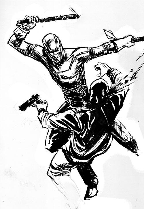 500x726 Kick Ass Sketch By Stokesbook